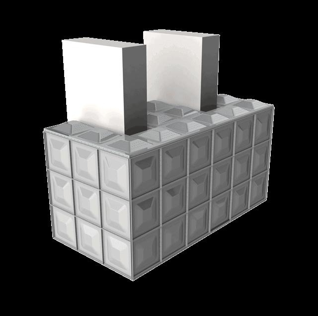 Sunnik Stainless Steel Panel Water Tanks - E-shape tanks