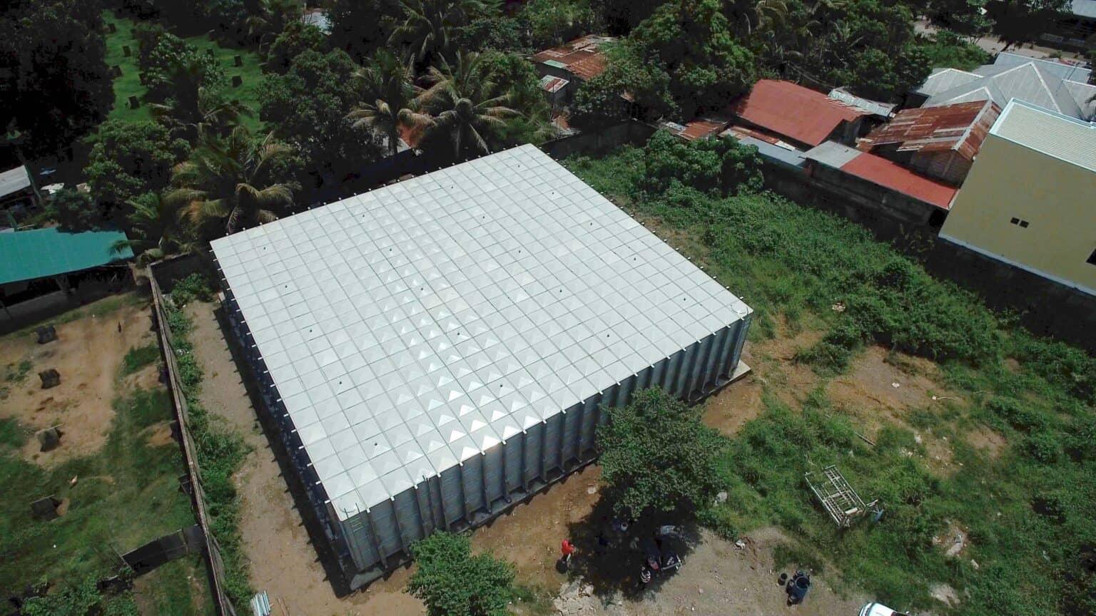 Sunnik FRP Panel Water Tank Installation in the Philippines