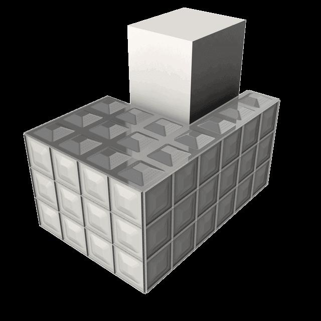 Sunnik Stainless Steel Panel Water Tanks - L-shape tanks
